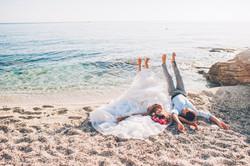 Cristalyne Celebrations- Bride and Groom Trash The Dress Beach Edition