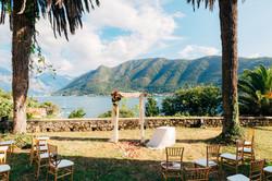 Cristalyne Celebrations- Cliffside Ceremony Setup Overlooking the Ocean