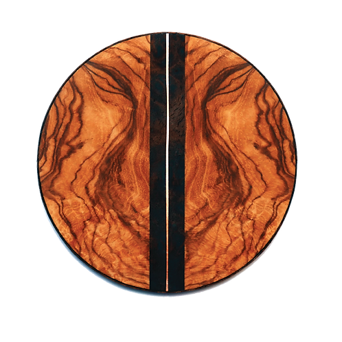 Table Coasters: Veneers, Copper Wire, Leather