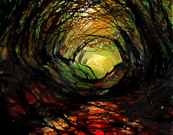 Autumn Tunnel - red