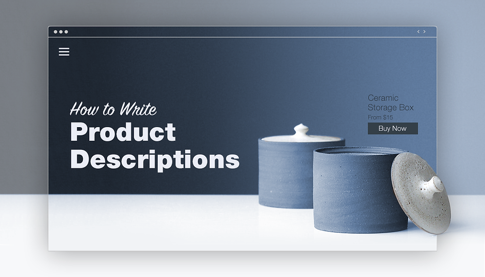 Example of ceramic store website.