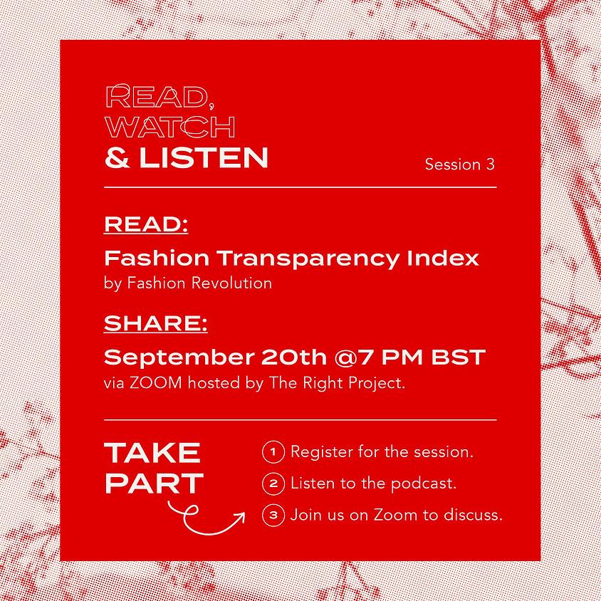 Read, Watch & Listen: Session 3