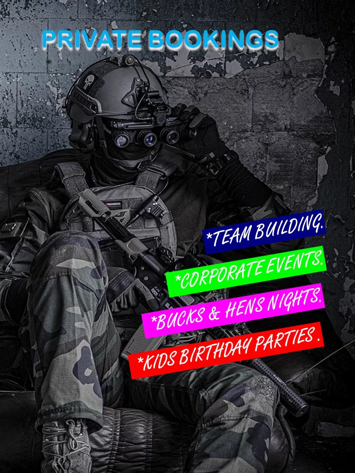 Private Gel Combat up to 12 Players