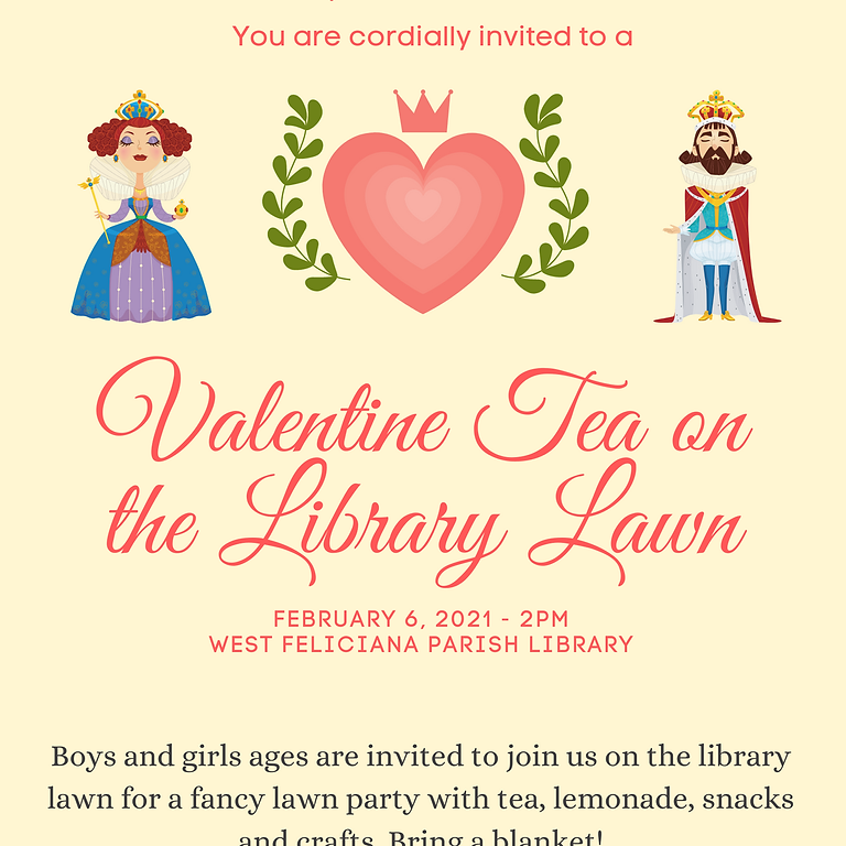 Valentine Tea on the Library Lawn