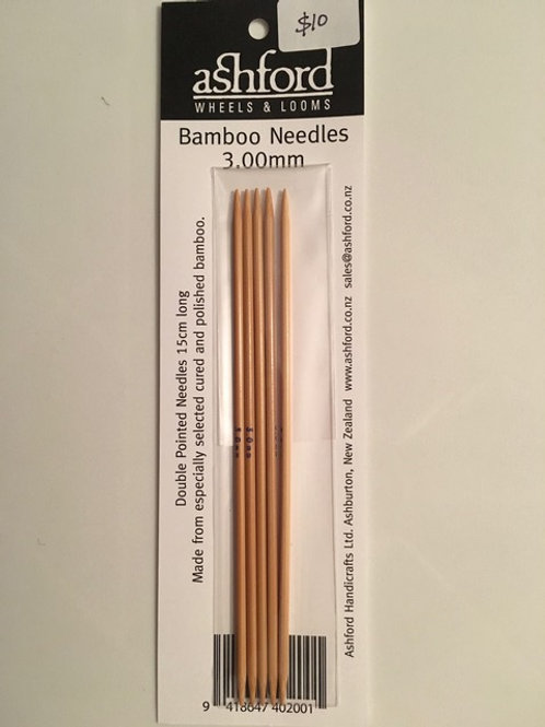 3.00mm Bamboo Sock Needles - Set of 5