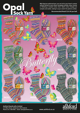 Opal Sock Yarn Wool Butterfly Collection