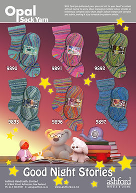 Opal Sock Wool Yarn Good Night Stories Collection Buy Purchase Delivery NZ