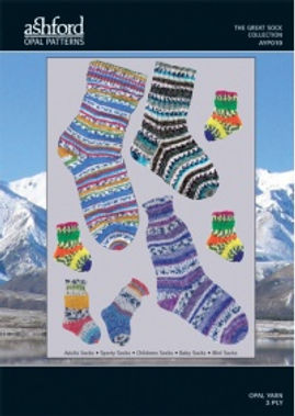 Ashford Opal Sock Wool Yarn Knitting Patterns