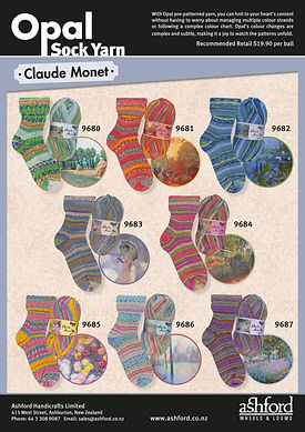 Opal Sock Yarn Wool Claude Monet Collection
