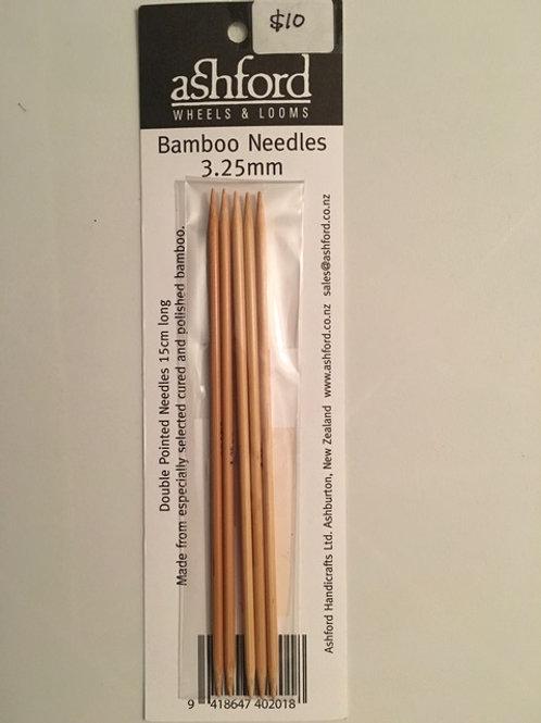 3.25mm Bamboo Sock Needles - Set of 5