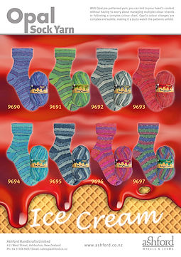 Opal Sock Wool Yarn Ice Cream Collection Purchase Buy Delivery NZ