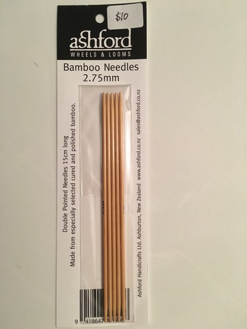 2.75mm Bamboo Sock Needles - Set of 5