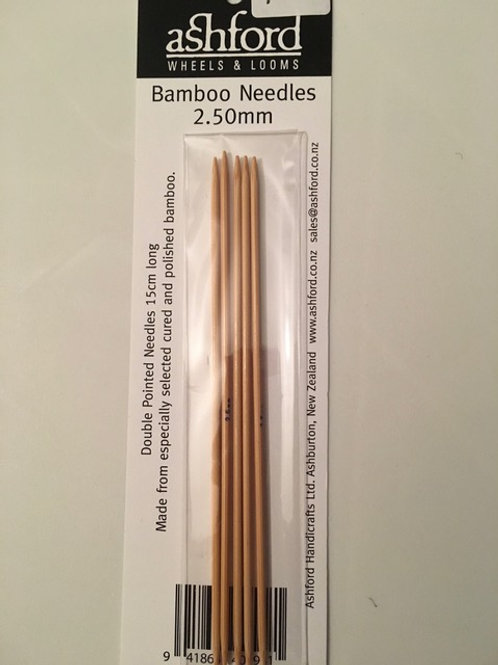2.5mm Bamboo Sock Needles - Set of 5