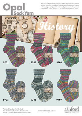 Opal History Collection Sock Yarn Wool Buy Purchase Delivery NZ