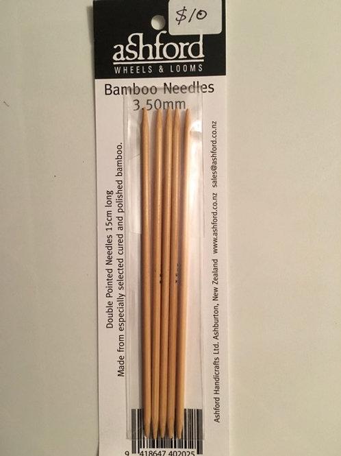 3.5mm Bamboo Sock Needles - Set of 5