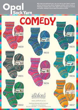 Opal Sock Wool Yarn Comedy Collection Buy Purchase Delivery NZ