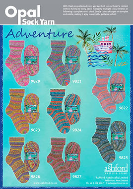 Opal Sock Wool Yarn Adventure Collection Buy Purchase Delivery NZ