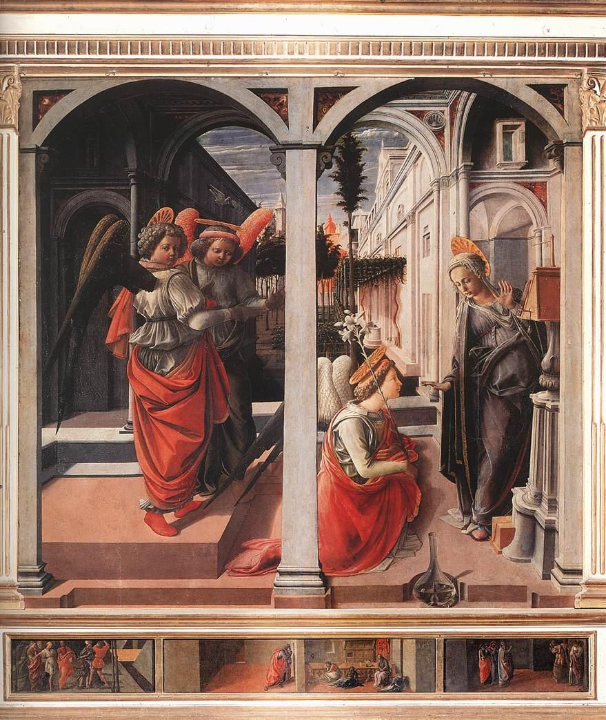 Fra Filippo Lippi, 1440. Tempera on panel, Basilica di San Lorenzo, Florence