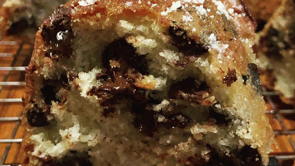 Organic Greek Yogurt Chocolate Chip Bundt Cake