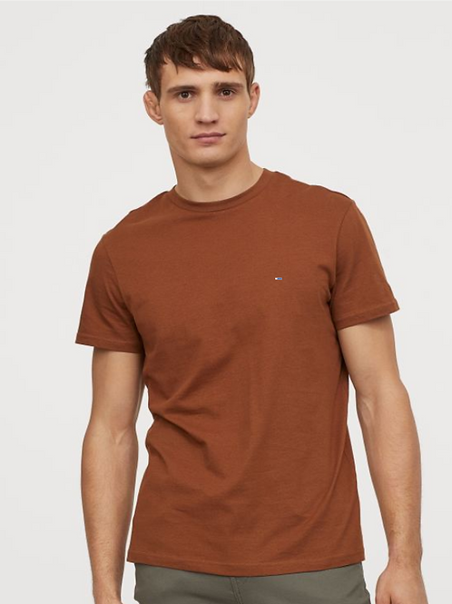 Rust Half Sleeve T-Shirt