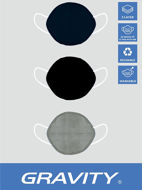 3 - Layer Premium Protective Mask : Pack of 12