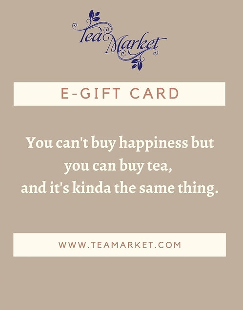 E-Gift Card for Website Orders