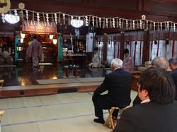 大・小行司神上式(大祭の翌日)