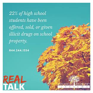 I22% of high school students have been o
