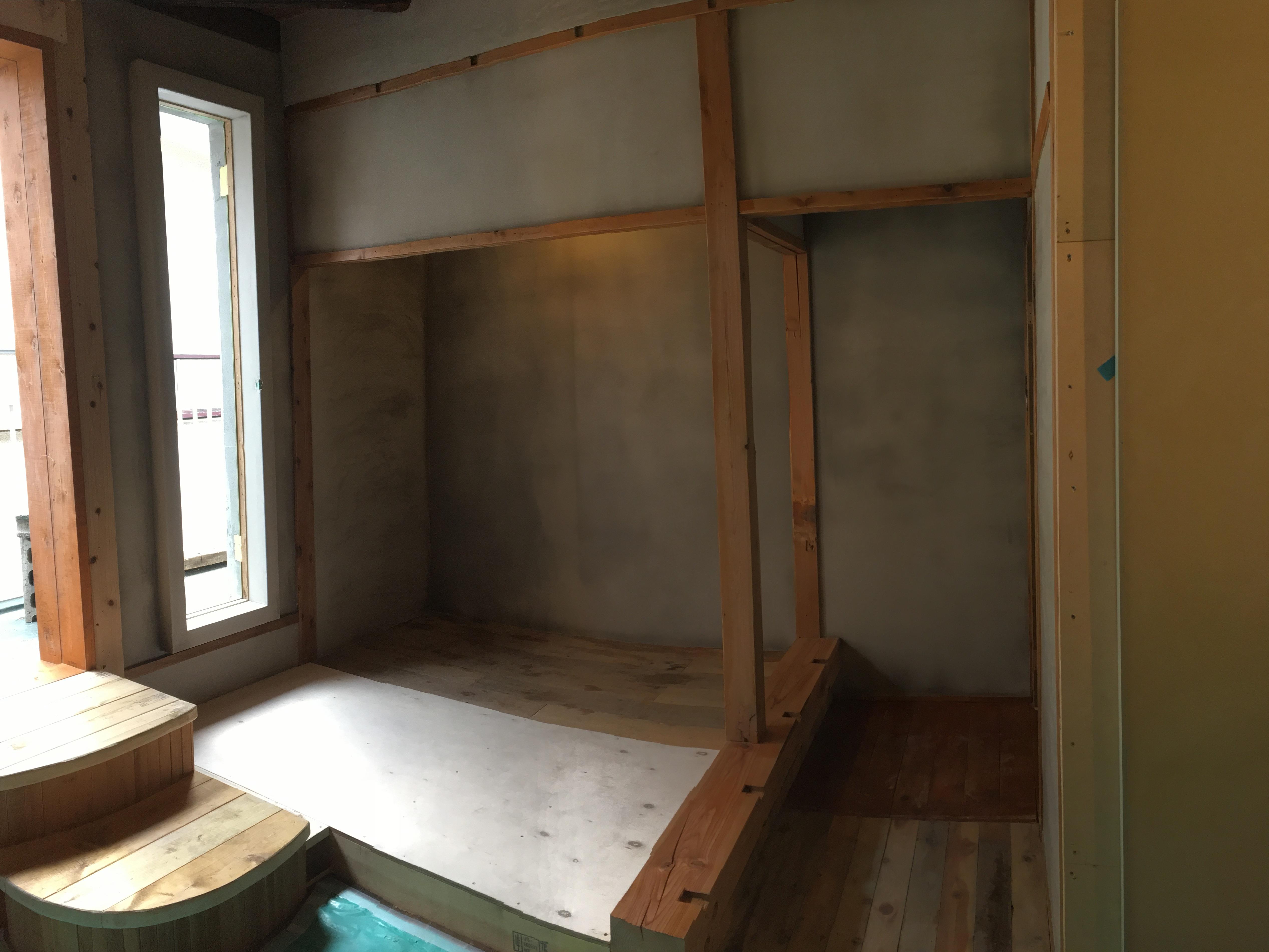 漆喰仕上げの茶室