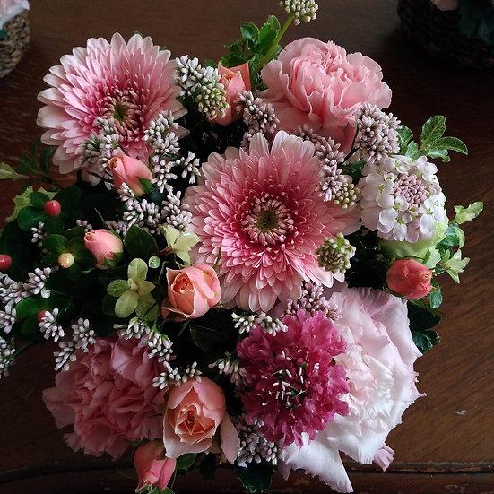 母の日のお花S ピンク系