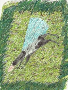 肩で風を切って走る馬_和紙に墨、アクリル、コラージュ_約h26×w24cm.jpeg