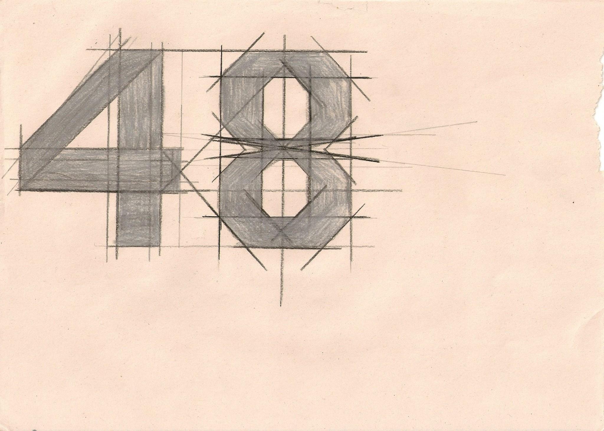 48SoItGose.のロゴのラフ