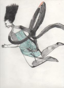 ハンガー天女290×215mm和紙に墨、色鉛筆2014.jpeg