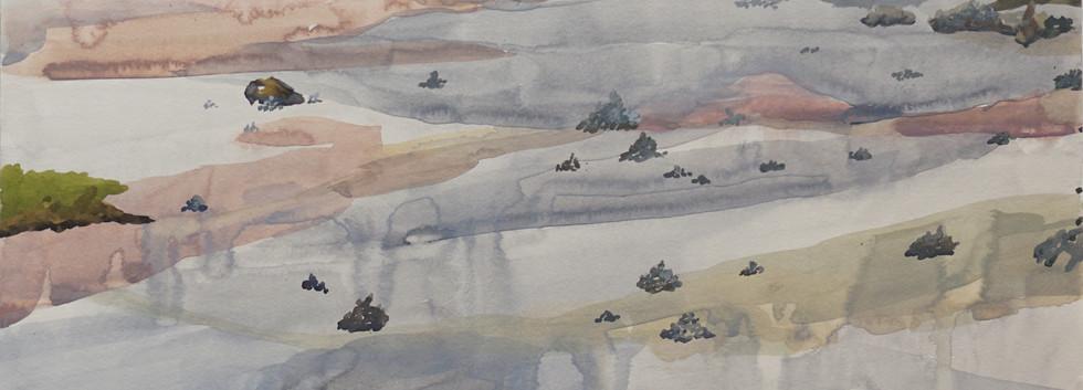 積み石のある風景