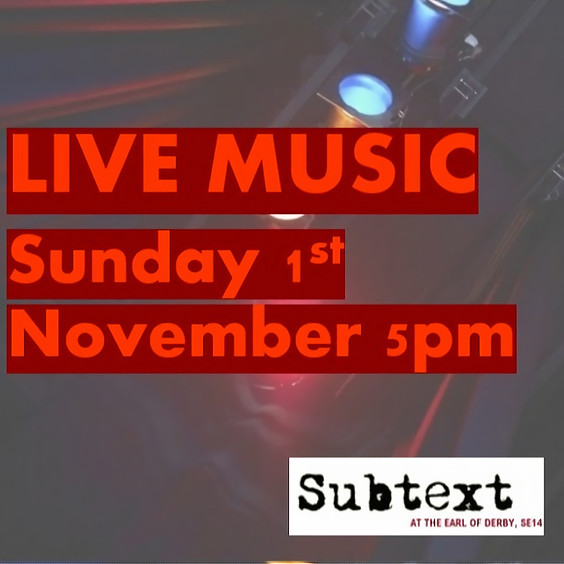 LIVE MUSIC - Sunday 1st November