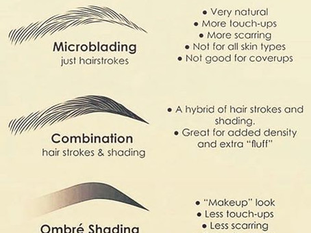 What is the difference between Microblading & Ombre eye brows?