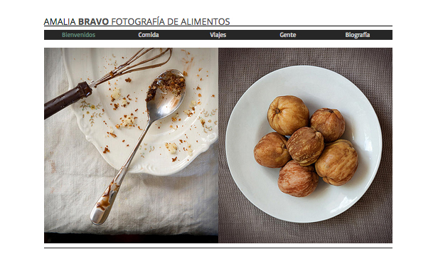 Comercial y Editorial website templates – Fotografía de alimentos