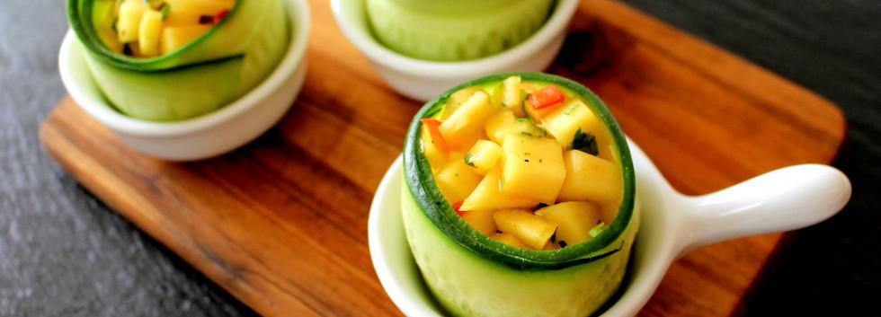 Krepsehaler med mangosalat