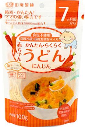 TANABIKI Akachan Udon Ninjin Carrot 100g 7months+