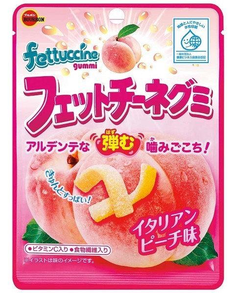 Gummy Italian Peach 50g Fettuccine Gummy BOURBON