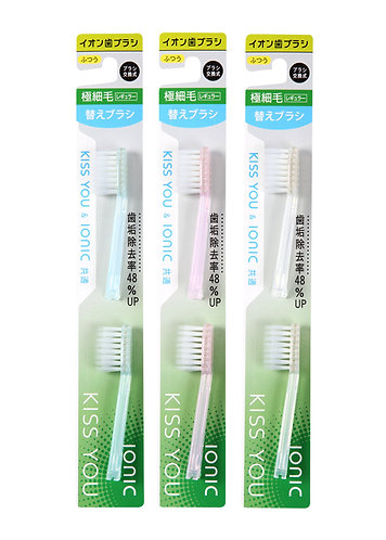KISS YOU Regular Replacement Brush Heads