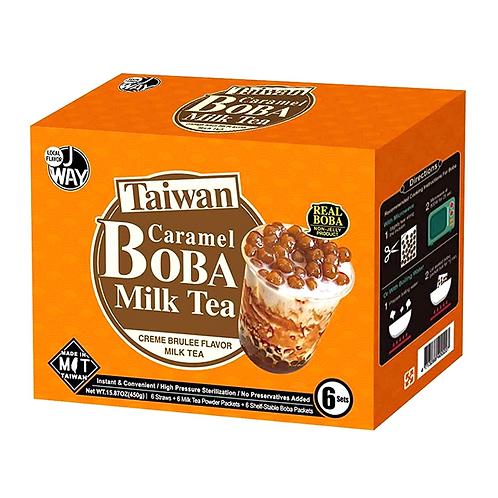 JWAY Boba Milk Tea Set Caramel 6pc 450g