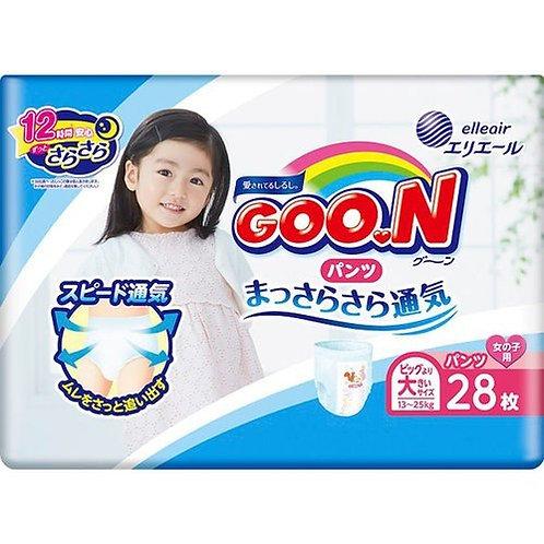 GOON XXL Pants Girl Nappy 28pc Pants Type 13-25kg