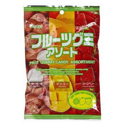 KASUGAI Fruit Gummy Assort  102g