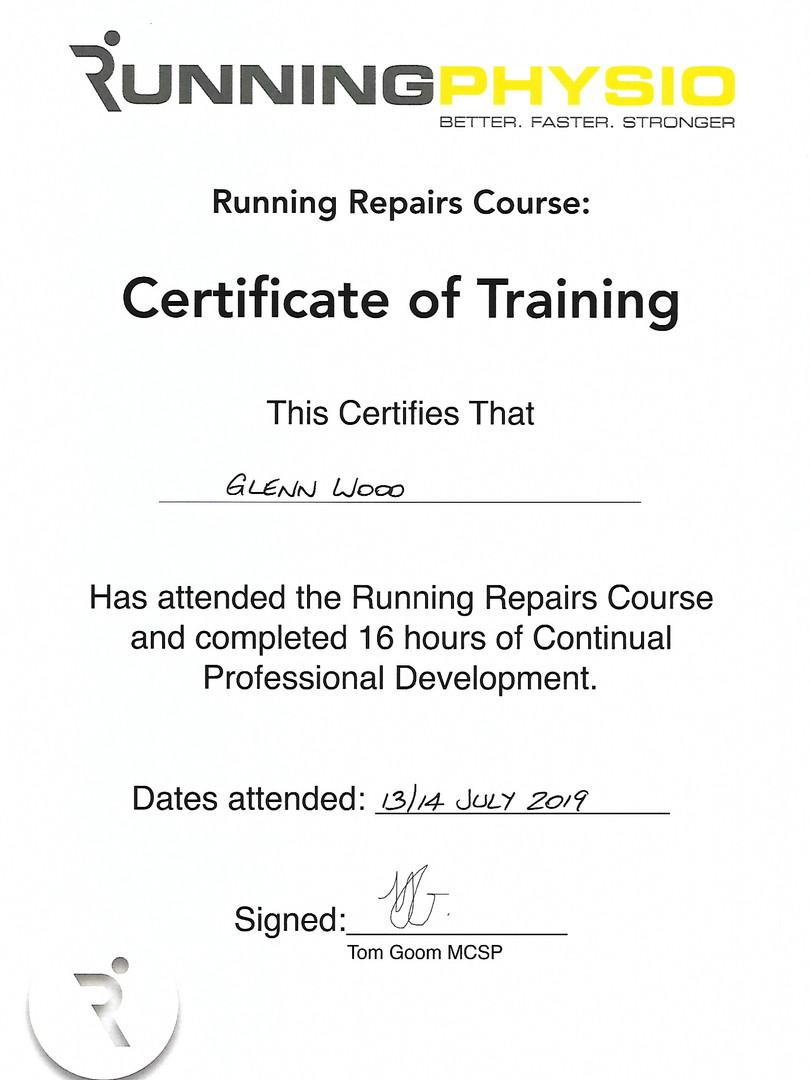 Running Repairs training Course