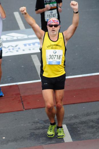 Finishing the berlin marathon