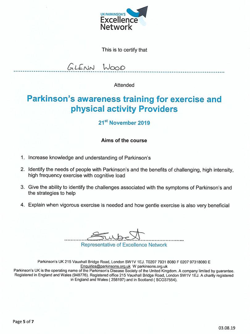 Parkinsons Awareness Training