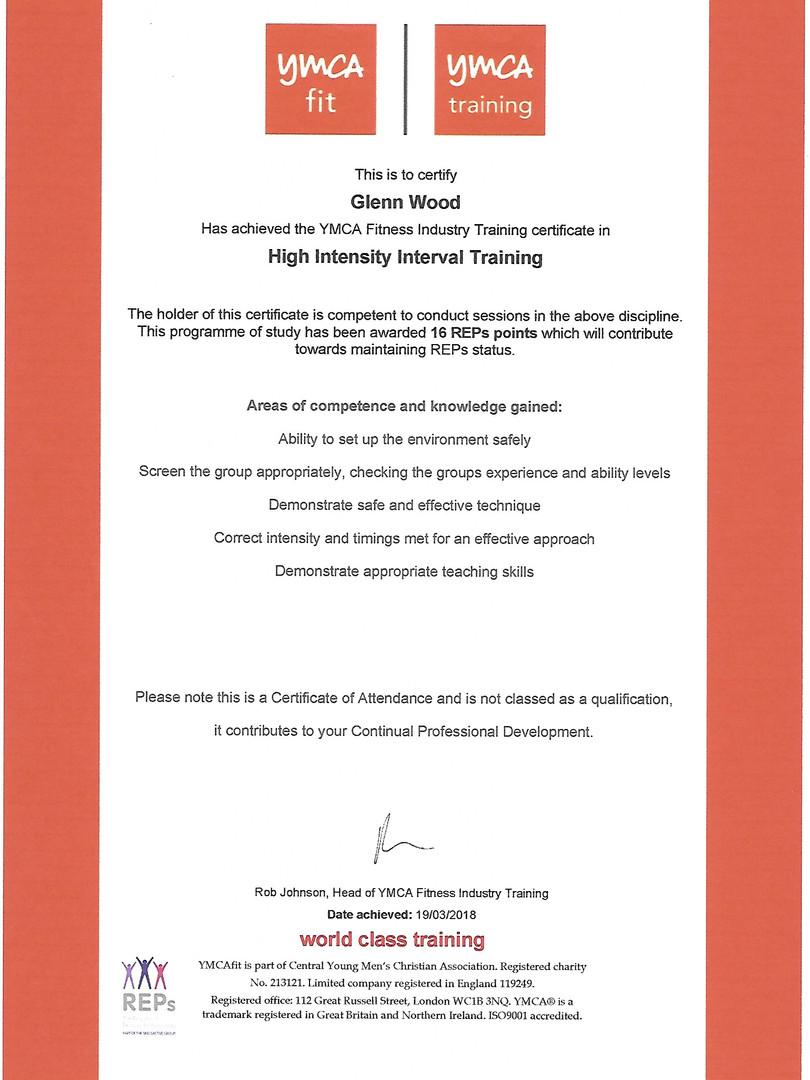 YMCA High Intensity Interval Training