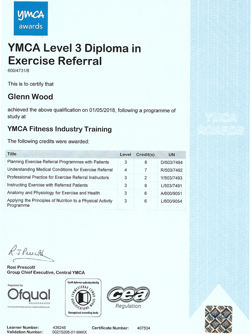 Diploma in Exercise Referral