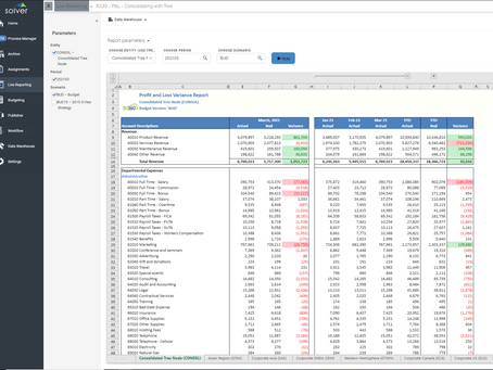 Solver Enables Live Consolidated Reporting